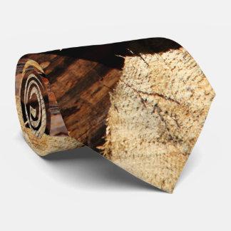 Logs Of Wood Neck Tie