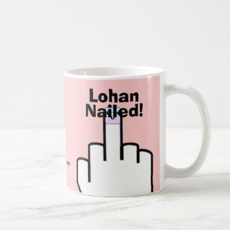 ¡Lohan clavó! - Lindsay Lohan Taza Básica Blanca