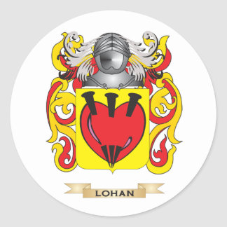 Lohan Coat of Arms (Family Crest) Classic Round Sticker