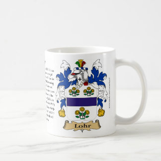 Lohr, the Origin, the Meaning and the Crest Coffee Mug