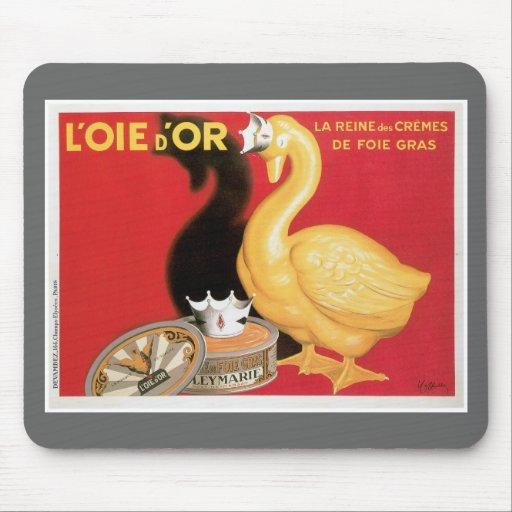 L'oie D'or La Reine Des Cremes Vintage Food Ad Mouse Pad