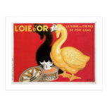 L'oie D'or La Reine Des Cremes Vintage Food Ad Postcard