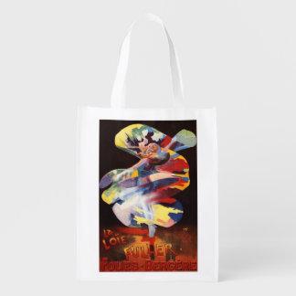 Loie Fuller at Folies-Bergere Theatre Grocery Bag