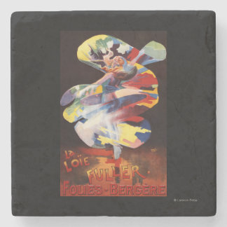 Loie Fuller at Folies-Bergere Theatre Stone Coaster