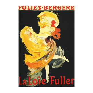 Loie Fuller at the Folies-Bergere Theatre Stretched Canvas Print