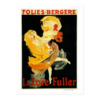 Loie Fuller at the Folies-Bergere Theatre Postcard