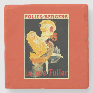 Loie Fuller at the Folies-Bergere Theatre Stone Coaster