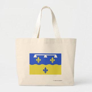 Loir-et-Cher flag Canvas Bags