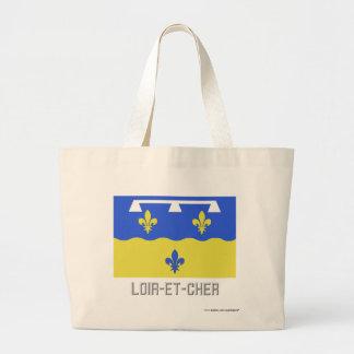 Loir-et-Cher flag with name Canvas Bags