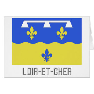 Loir-et-Cher flag with name Greeting Cards