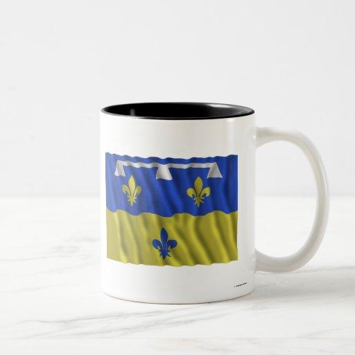 Loir-et-Cher que agita la bandera Taza De Café
