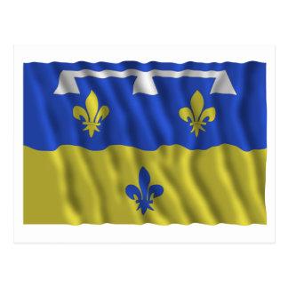 Loir-et-Cher waving flag Postcard