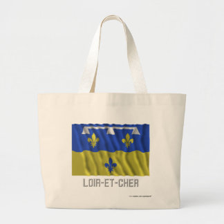 Loir-et-Cher waving flag with name Canvas Bags