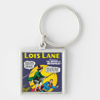 Lois Lane #1 Silver-Colored Square Keychain