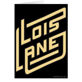Lois Lane Logo Card