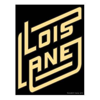 Lois Lane Logo Postcard