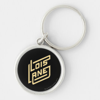 Lois Lane Logo Silver-Colored Round Keychain