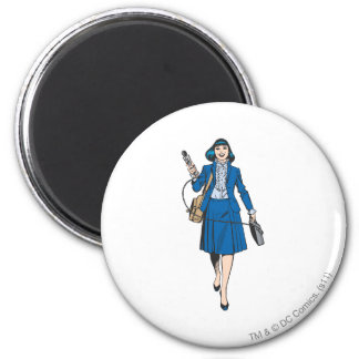 Lois Lane with Microphone 2 Inch Round Magnet