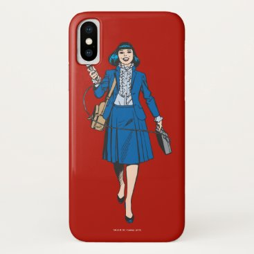 Lois Lane with Microphone iPhone X Case
