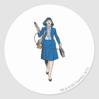 Lois Lane with Microphone Classic Round Sticker