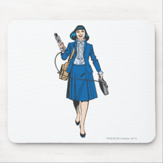 Lois Lane with Microphone Mouse Pad