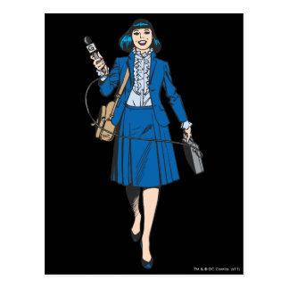 Lois Lane with Microphone Postcard