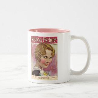 Lois Moran 1928 Movie Magazine Two-Tone Coffee Mug