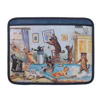 Lois Wain - gatos divertidos Spring Cleaning Funda MacBook