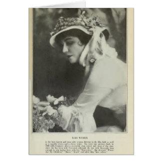 Lois Weber 1917 vintage portrait female director Greeting Cards
