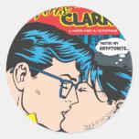 Lois y Clark cómicos Pegatina Redonda