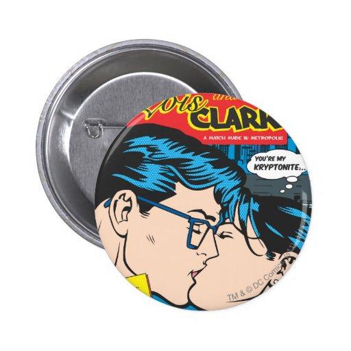 Lois y Clark cómicos Pins