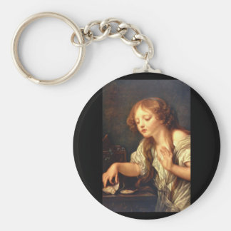 L'Oiseau Mort', Jean Baptiste_Portraits Basic Round Button Keychain