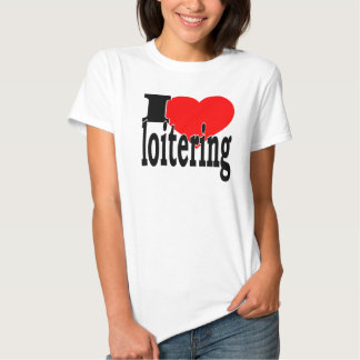 Loitering White T-Shirt