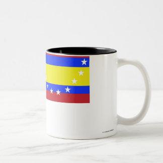 Loja flag Two-Tone coffee mug