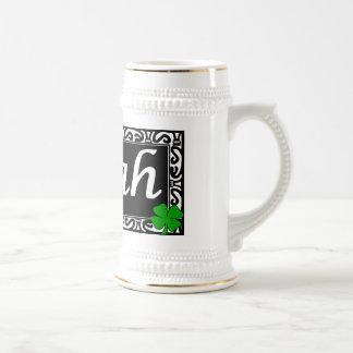 Lojah Beer Stein Shamrocks