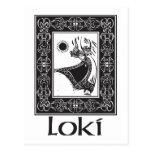Loki de dios de los nórdises postales