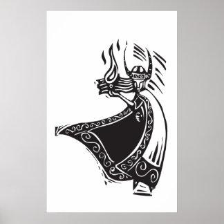 Loki de dios de los nórdises póster