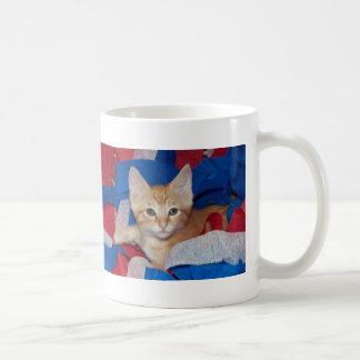 Loki en rojo, blanco y azul taza de café
