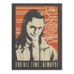Loki - For All Time. Always! Postcard