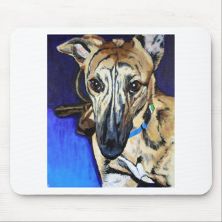 Loki - Lurcher dog Mouse Pad