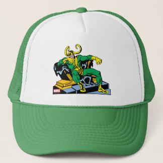 Loki Sitting On Throne Trucker Hat