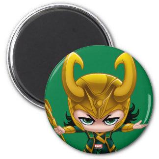 Loki Stylized Art 2 Inch Round Magnet