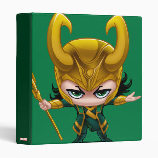 Loki Stylized Art 3 Ring Binder