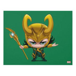 Loki Stylized Art Panel Wall Art