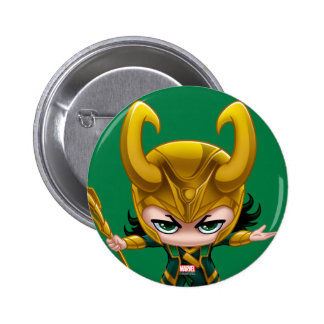 Loki Stylized Art Pinback Button