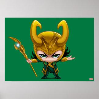 Loki Stylized Art Poster