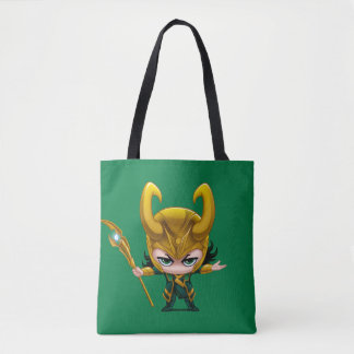 Loki Stylized Art Tote Bag