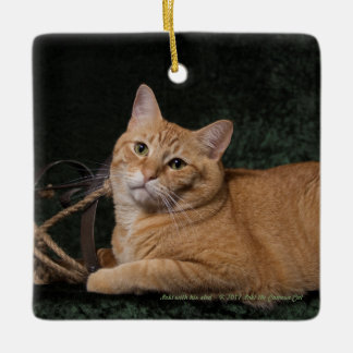 Loki with sled ceramic ornament