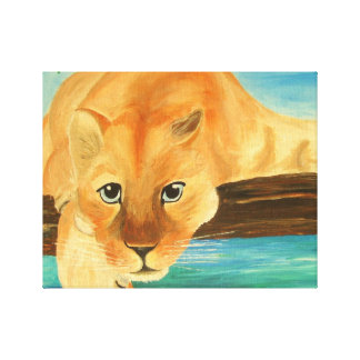 Loking at you - Cool Mountain Lion Canvas Print