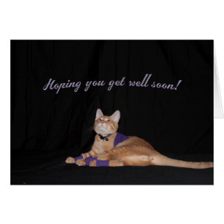 Loki's Get Well Wishes Stationery Note Card